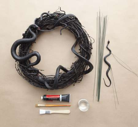 Snake Wreath Supplies