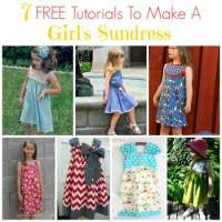 7 FREE Tutorials To Make A Girl's Sundress
