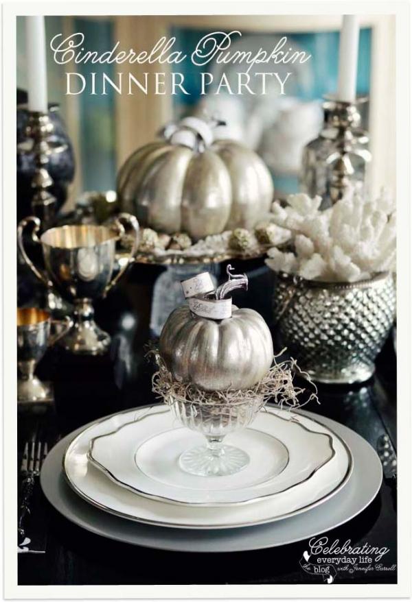 A Cinderella Inspired Elegant Halloween Dinner Party - Celebrating Everyday Life