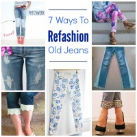 7 Ways To Refashion Old Jeans