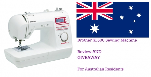 Review And Giveaway Sl40 Brother Sewing Machine Craft Gossip Simple Sewing Machine Giveaway 2015