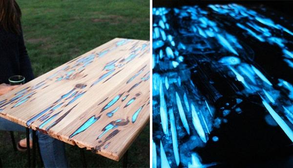 easy glow in the dark table craft gossip. Black Bedroom Furniture Sets. Home Design Ideas