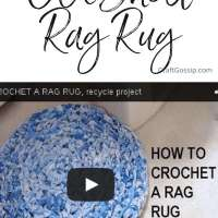 Crochet a Rag Rug Out of Old Sheets: Video