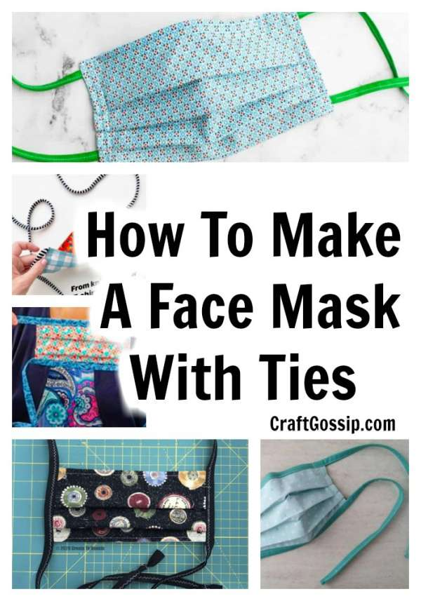 Fabric Face Mask: How To Make A Face Mask With Ties