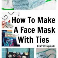 How to make a face mask with ties