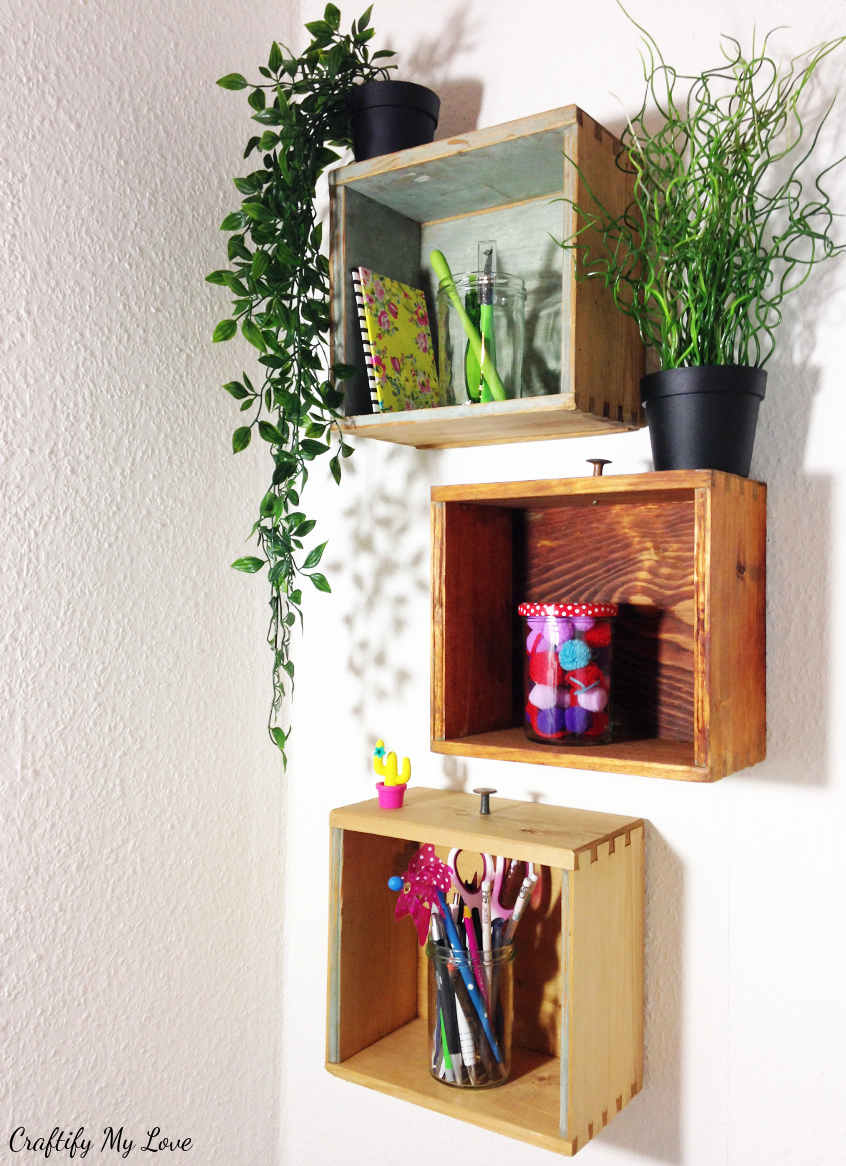 How To Make Shelves From Old Drawers