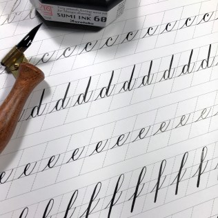 B-F Copperplate Zig Sumi