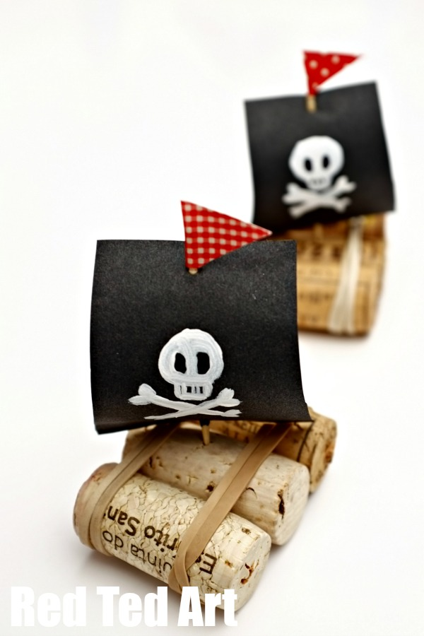Video. Make fun cork boats, pirates or with bright sails too. The kids love to play with these in the bath.