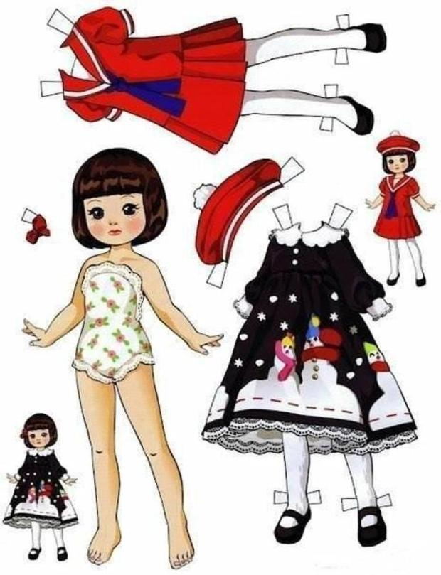 Free printable dress up doll. Print, cut, play, I loved these when I was a girl. Teaches kids to be careful with their toys.