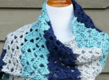 Free crochet pattern and video for this pretty wrap. Easy, for beginners. The video really helped me.