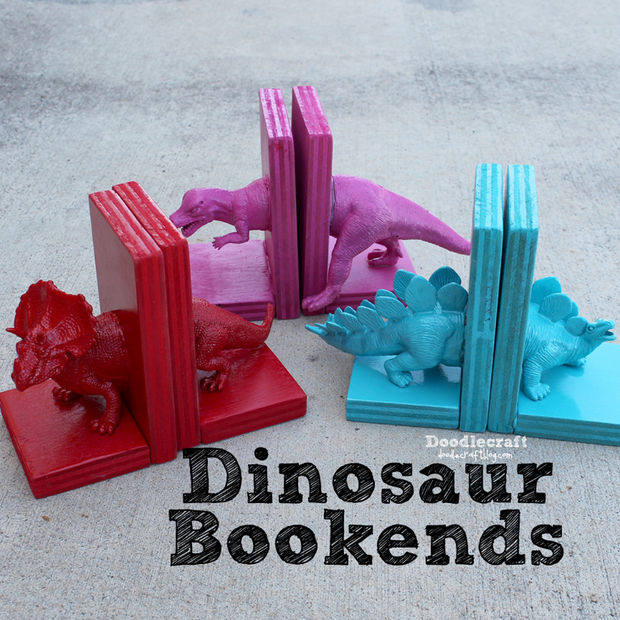 Dinosaur Bookends Kids Crafts