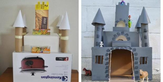 Kids Castle Crafts - Turn A Box Into A Castle