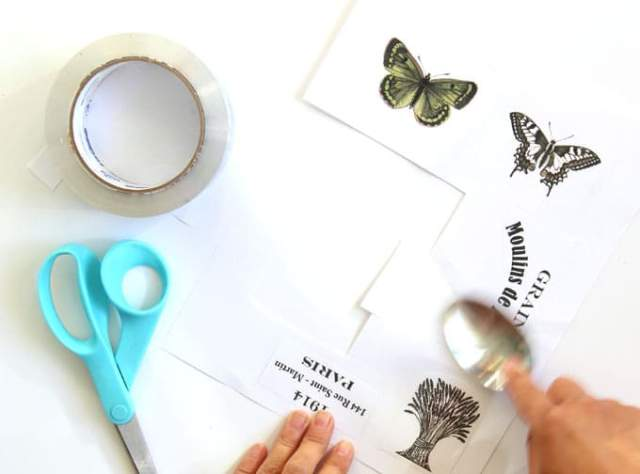 Image Transfer Using Packing Tape - DIY Clear Labels and Stickers