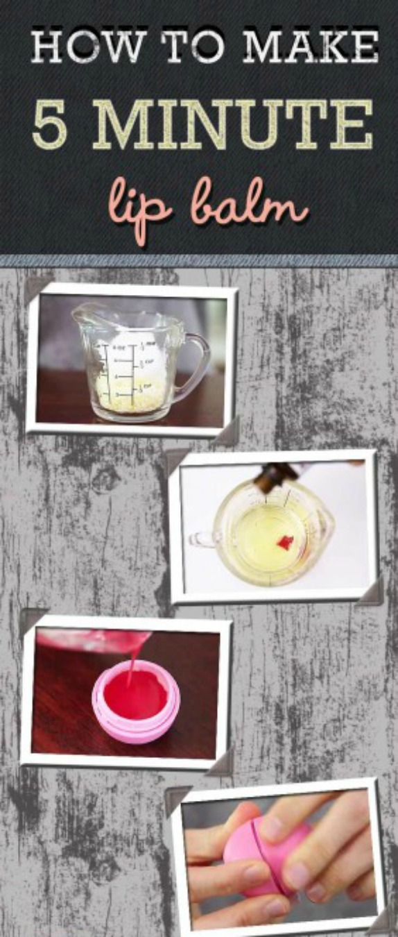 DIY Lip Balm With All Natural Ingredients In Just 5 Minutes