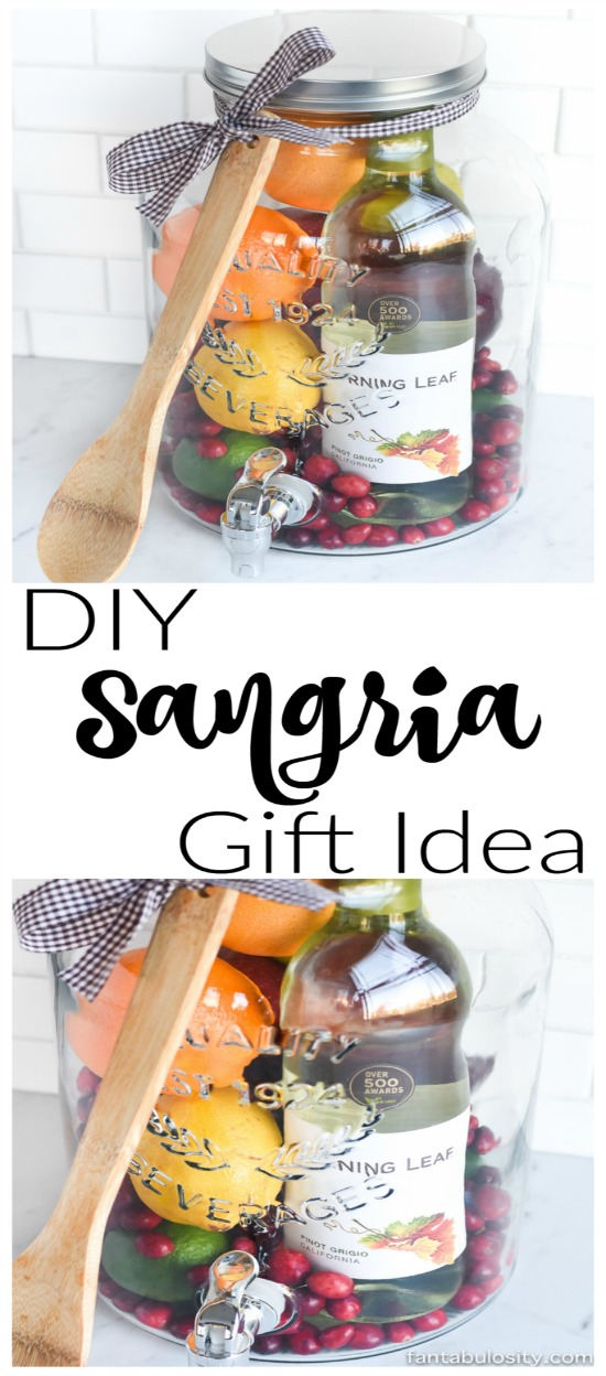 Sangria Gift Basket DIY Idea - An Easy Gift To Wow Your Friends