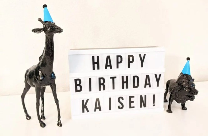 Happy Birthday Kaisen sign for first birthday