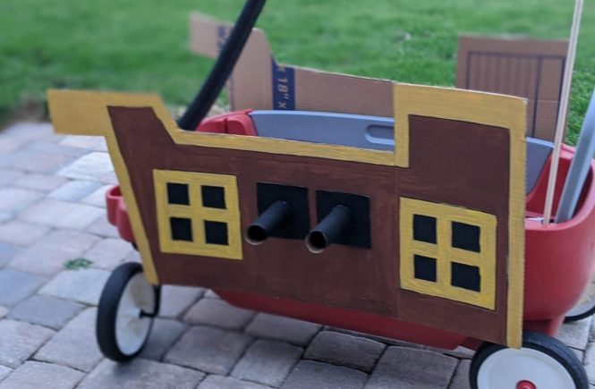 DIY pirate ship wagon
