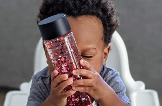 Easy DIY Valentine's Day Sensory Bottle for Kids