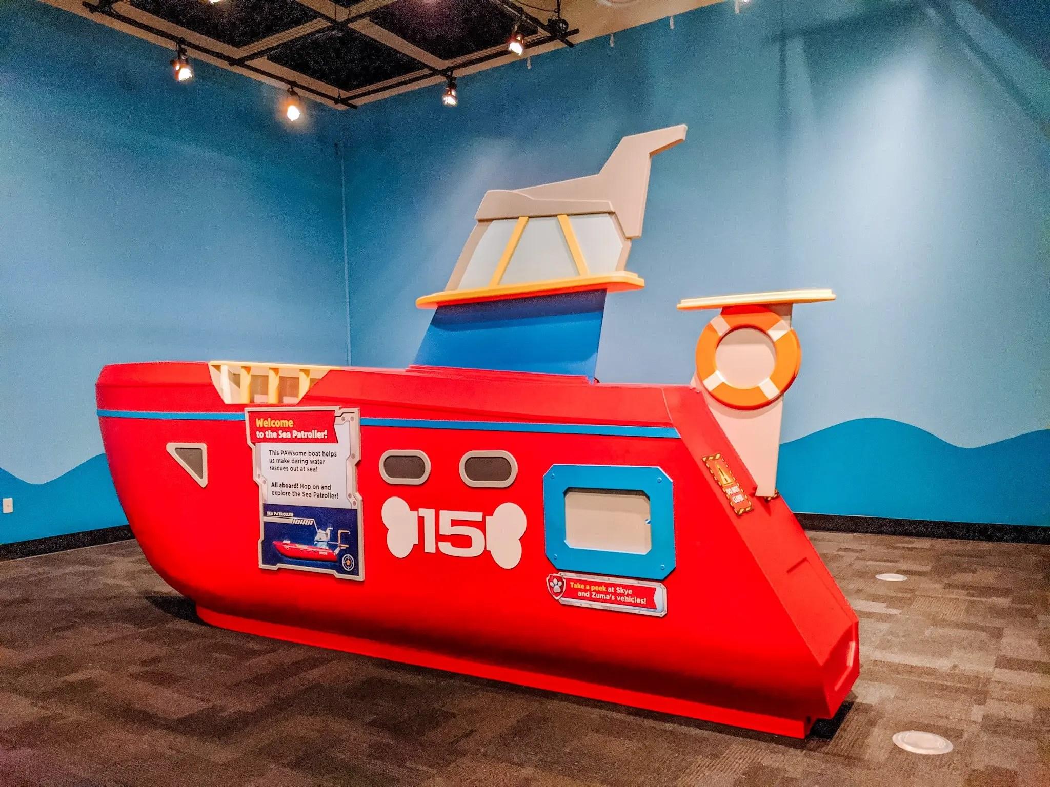 Paw Patrol exhibit at the Glazer Children's Museum