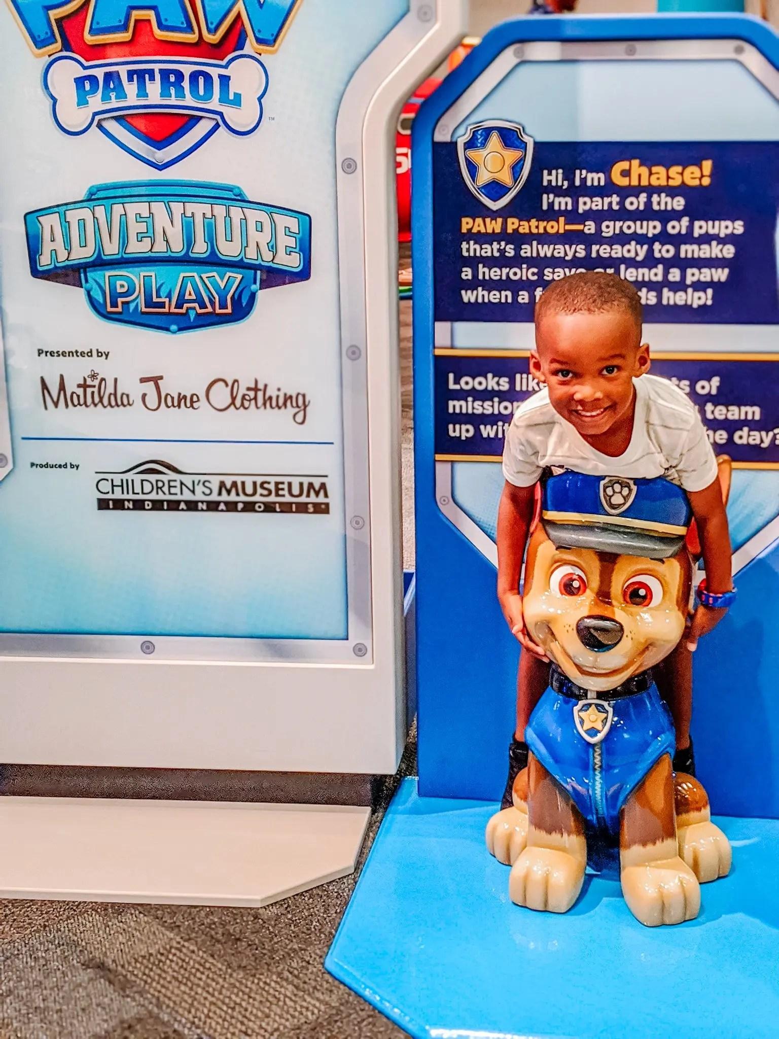 Preschool Black boy with Chase of the Paw Patrol