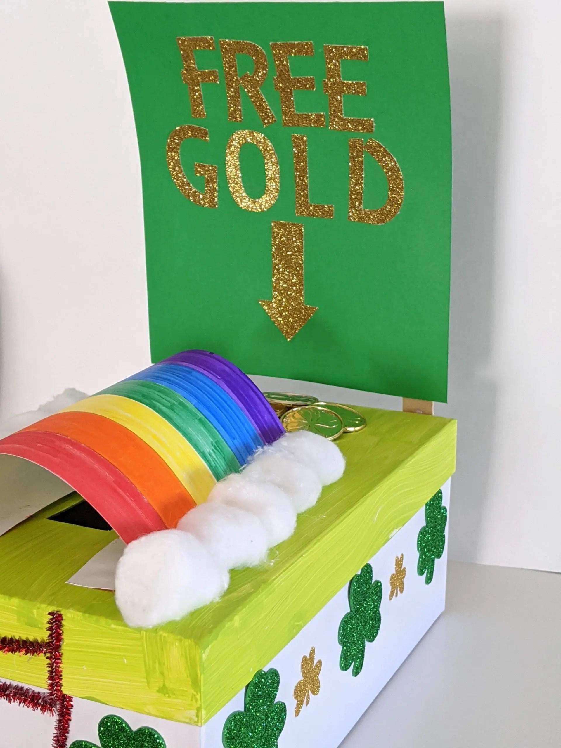DIY leprechaun trap for kids