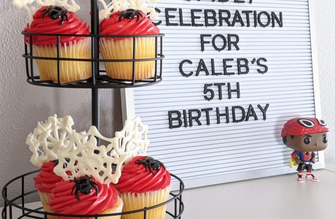 spidey celebration for Caleb's birthday
