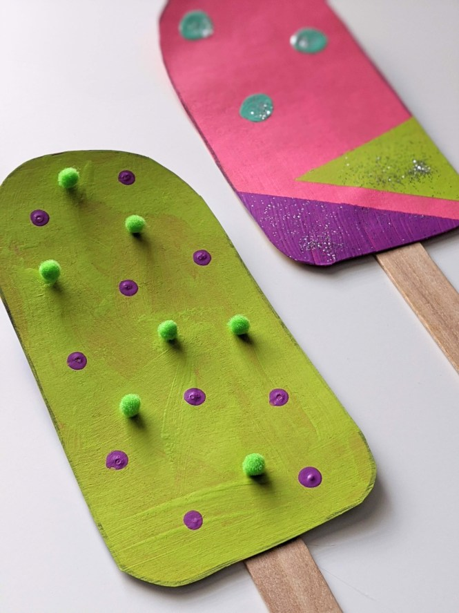 Colorful Cardboard Popsicle Craft