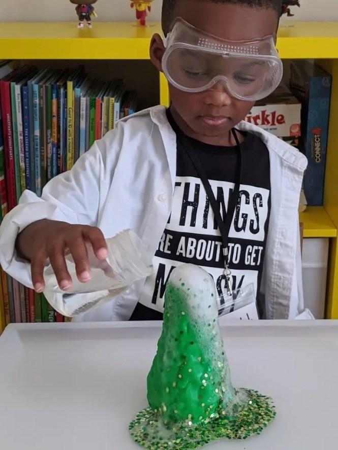 volcano science experiment