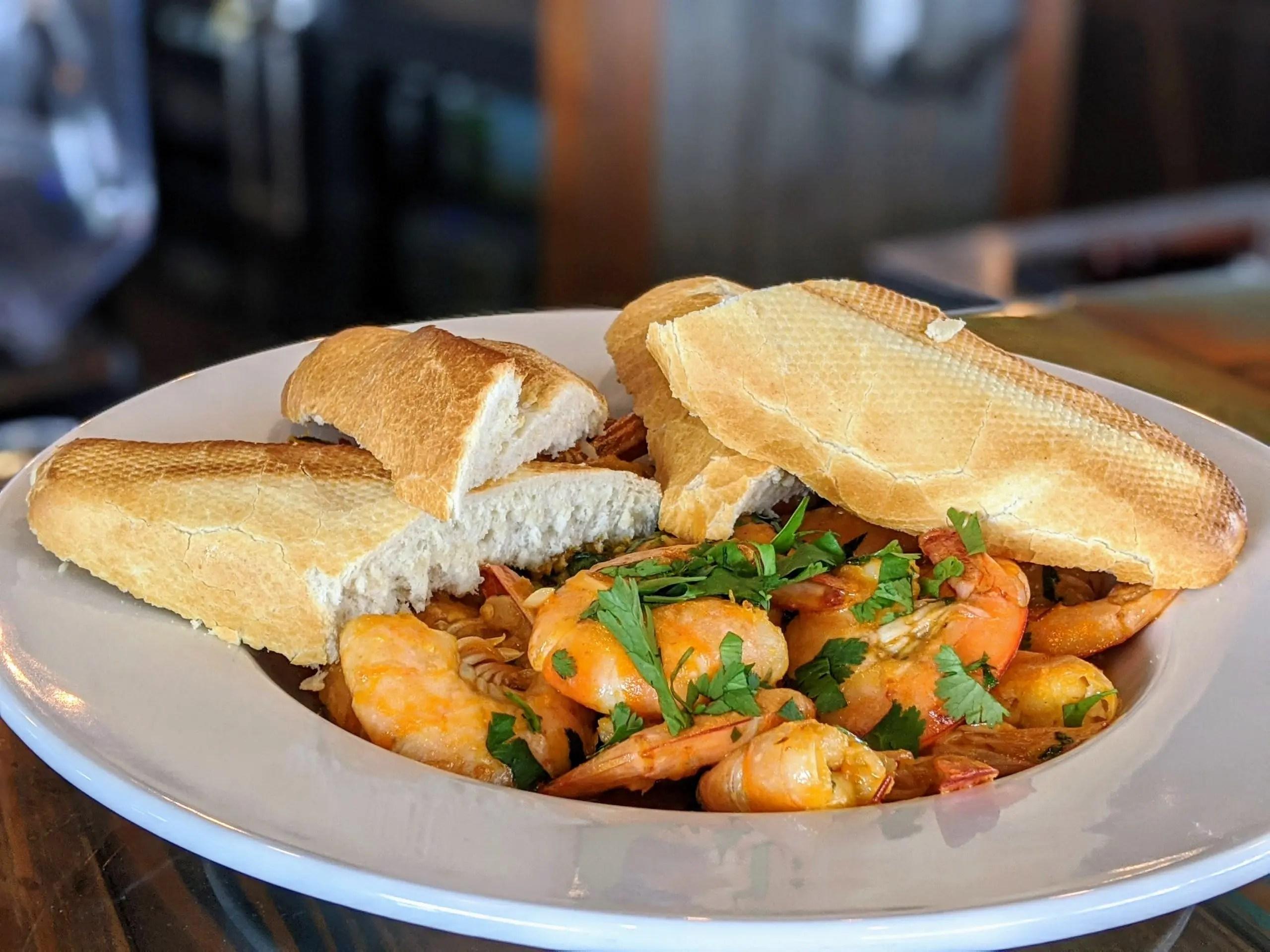 Yucatan shrimp at restaurant