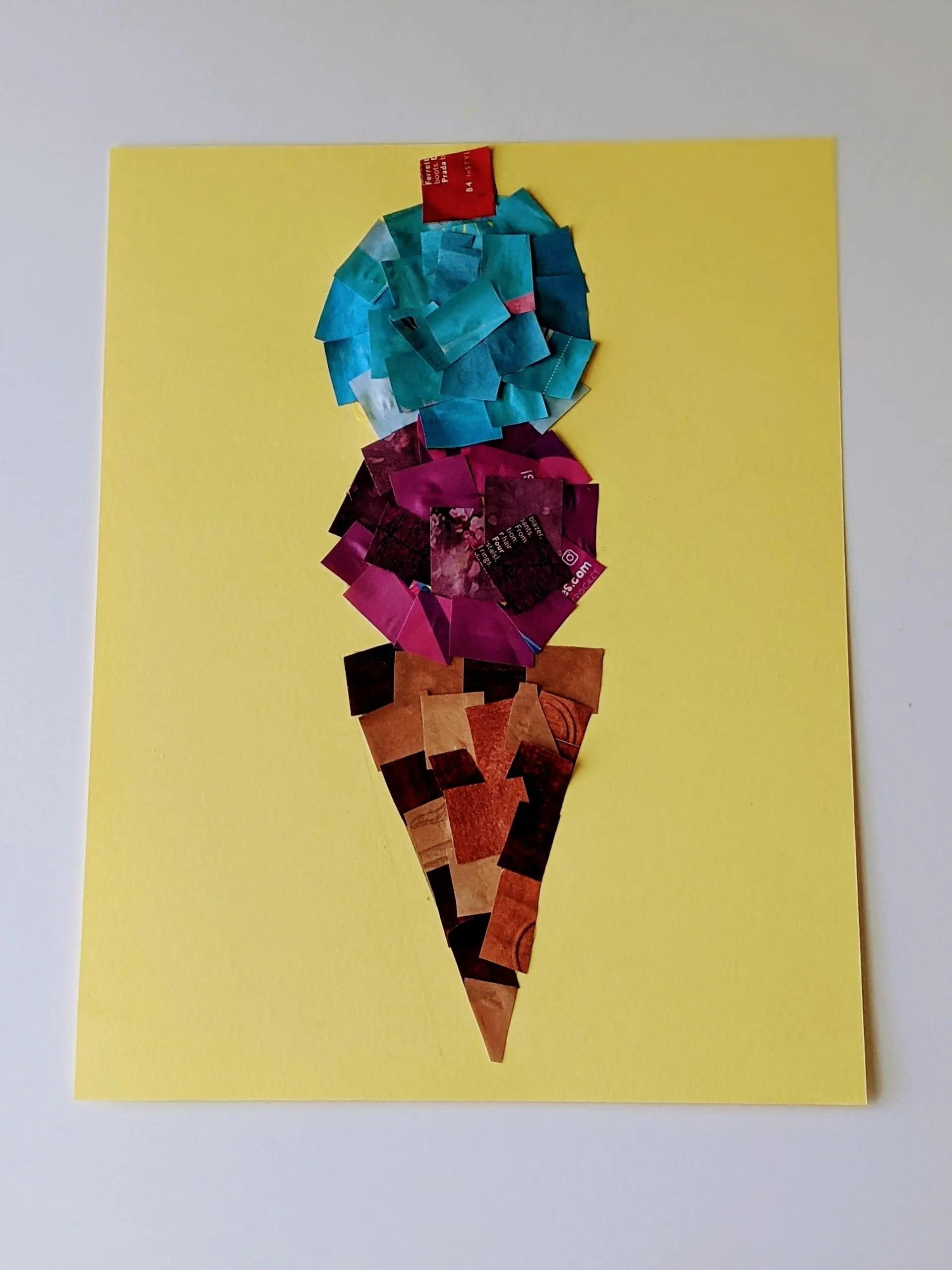 magazine collage craft