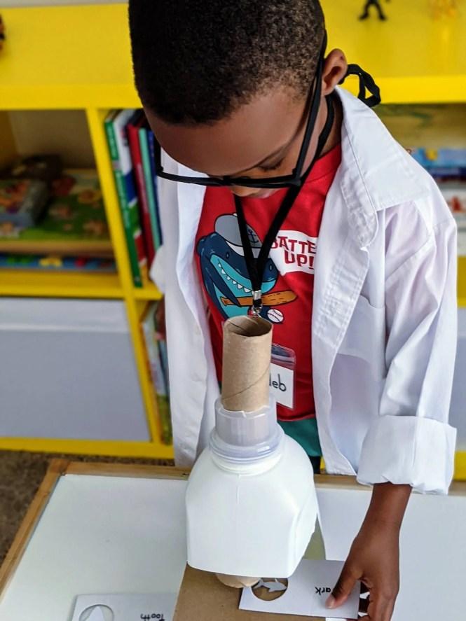 DIY microscope for dramatic play