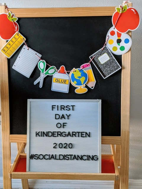 first day of school letter board
