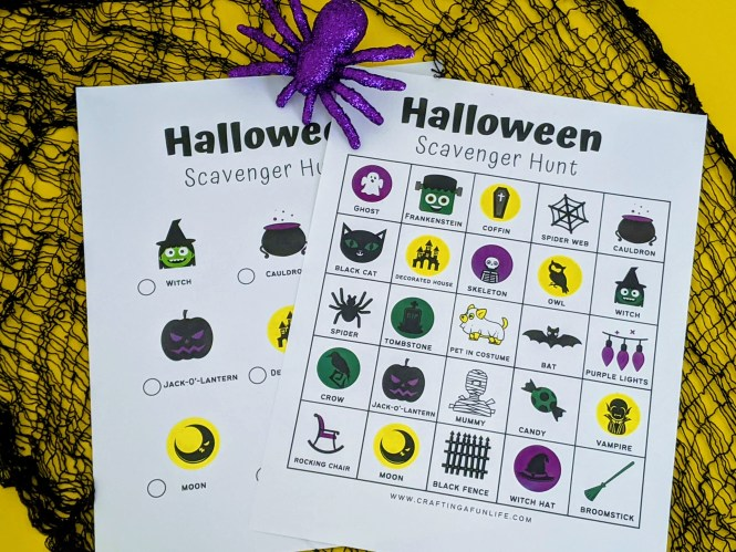 Halloween scavenger hunt for the whole family