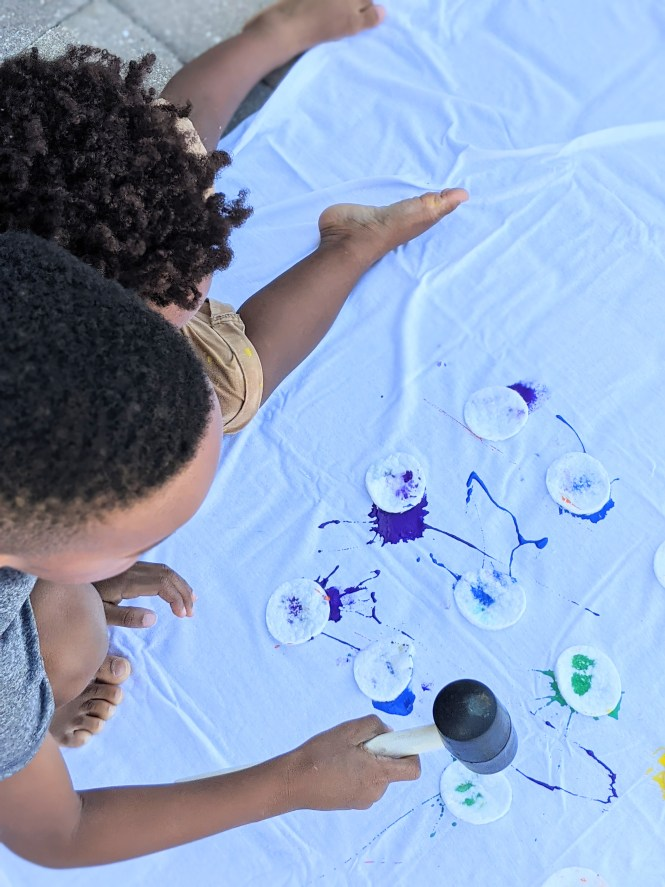 smash painting art project for kids