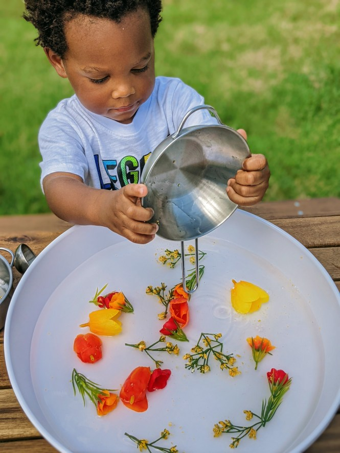flower soup sensory activity for spring