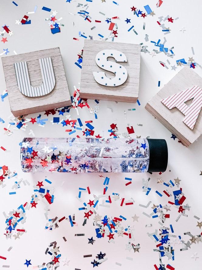 patriotic sensory bottle for kids