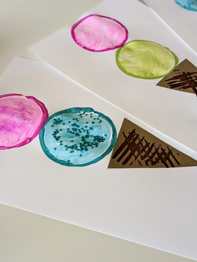 ice cream stamp art
