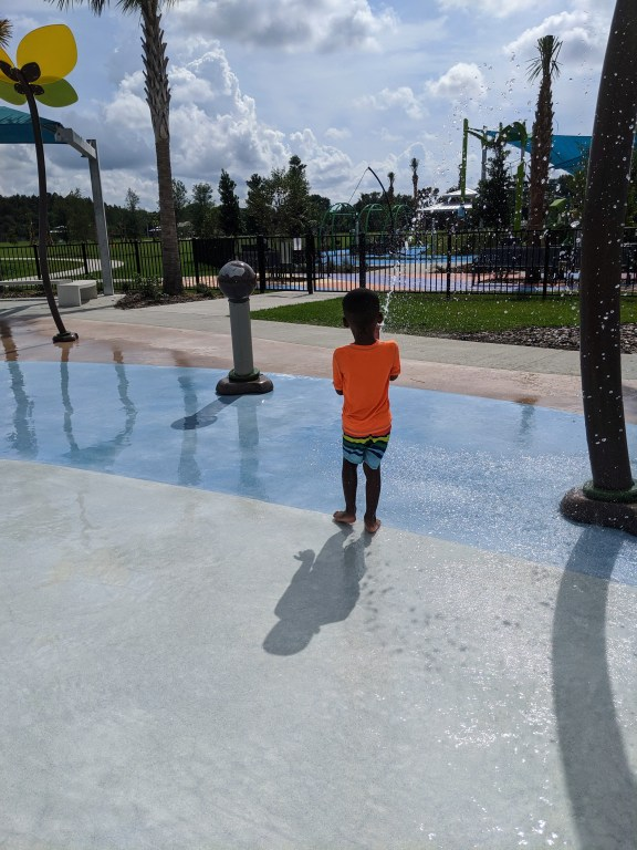 Carrollwood Village Park splash pad in Tampa Bay