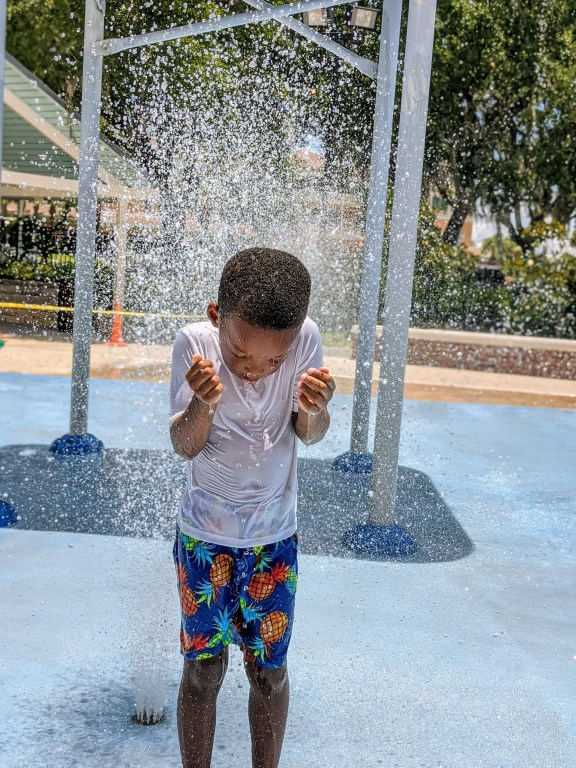 Water Works splash pad in Tampa