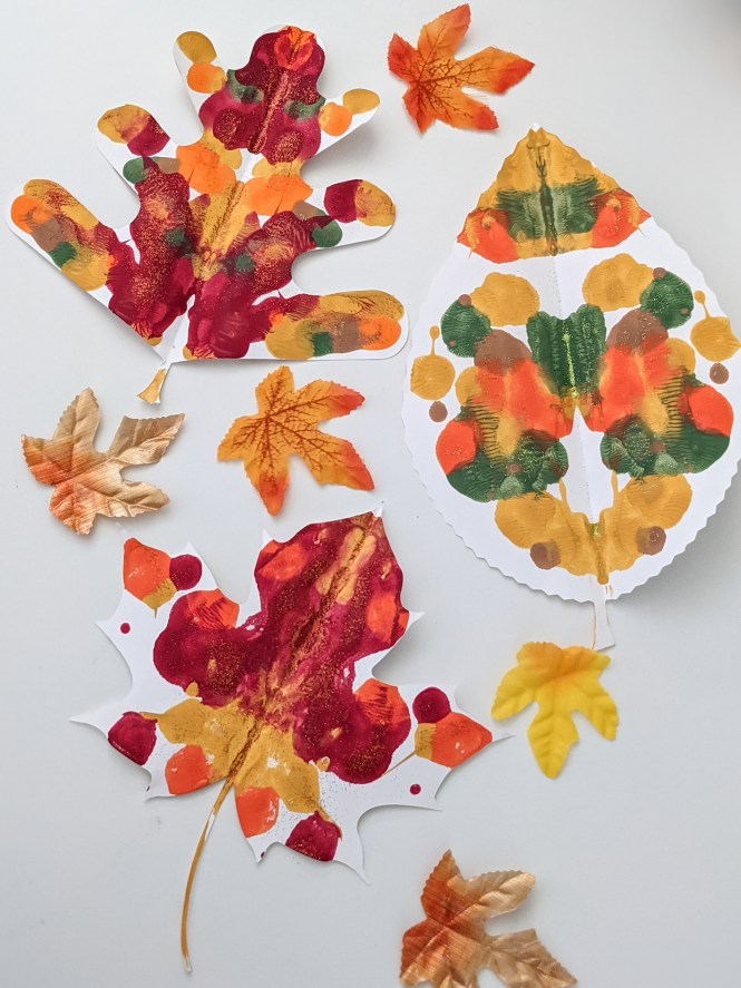 fall leaves symmetry painting