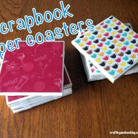 DIY Scrapbook Paper Coasters