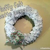 Fluffy Felt Rosette Wreath