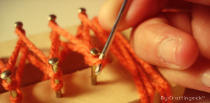 Como tejer en telar rectangular