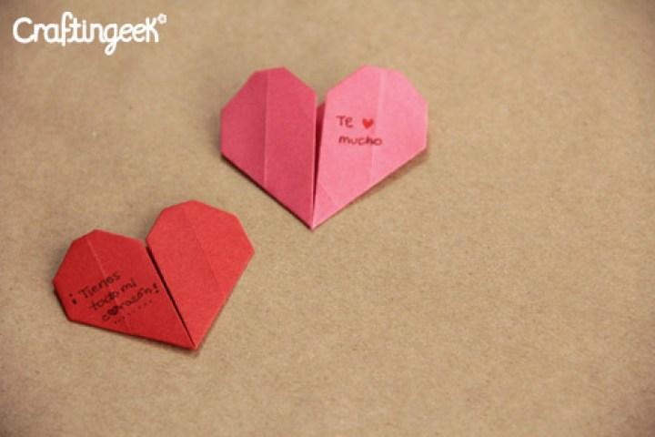 Cómo hacer corazones de origami paso a paso