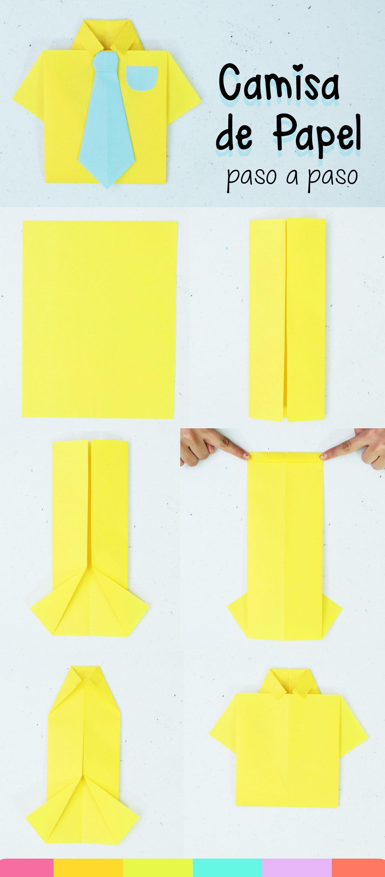 Como hacer una camisa de papel paso a paso - Origami T-shirt tutorial