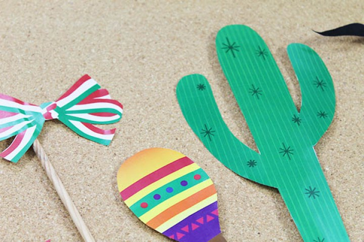 Photo props para imprimir de fiesta mexicana