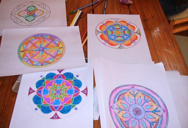 mandalas 5 colorear