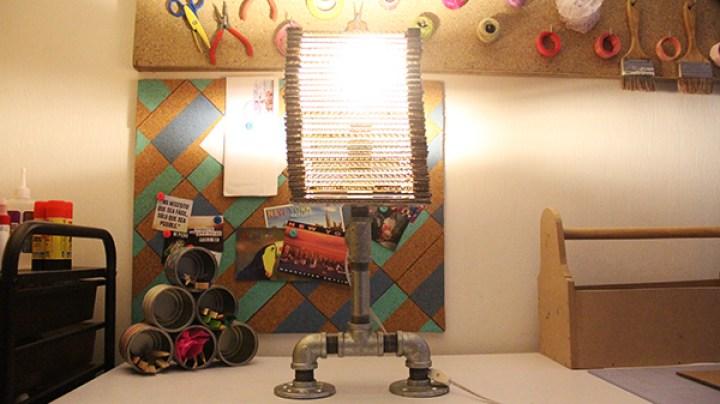 lampara con carton