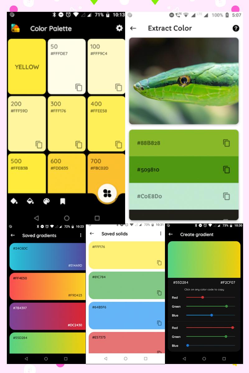 Haz Combinaciones de colores en el celular