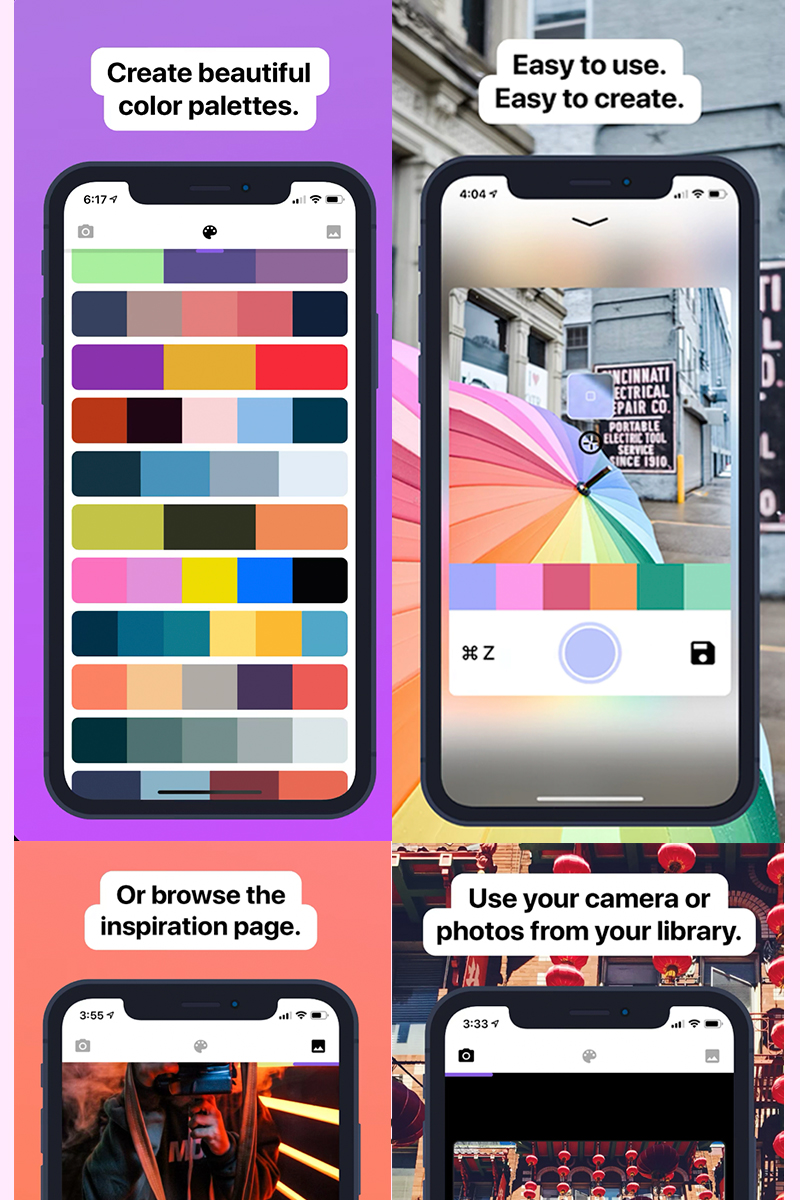 Palette Cam para iphone: haz paletas de colores fácil